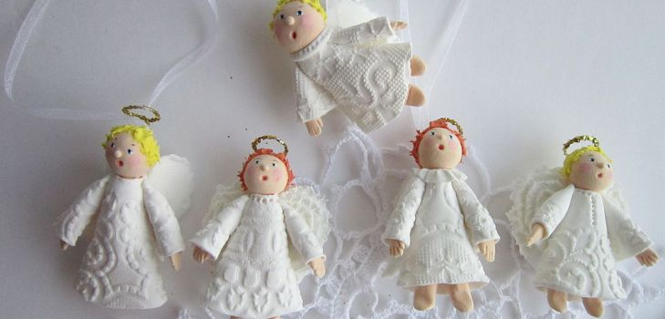 Ангелы из полимерной глины