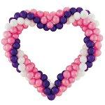 Сердце из шаров ко Дню влюбленных
