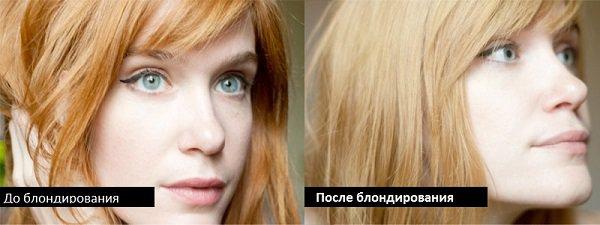 Блондирование волос: фото до и после окрашивания в домашних условиях
