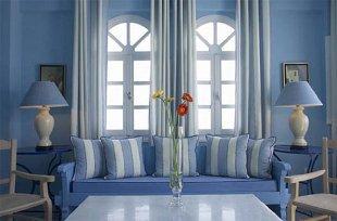 Интерьер в голубом цвете