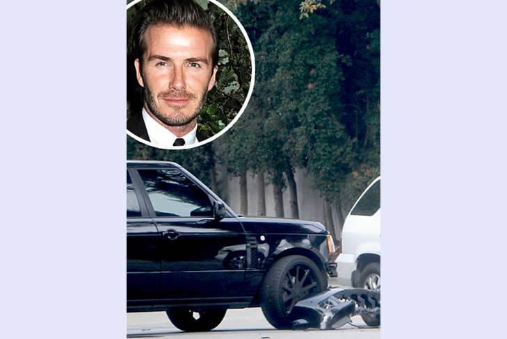 Дэвид Бэкхем попал в аварию