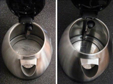 Как очистить чайник от накипи; средства для удаления известкового налета