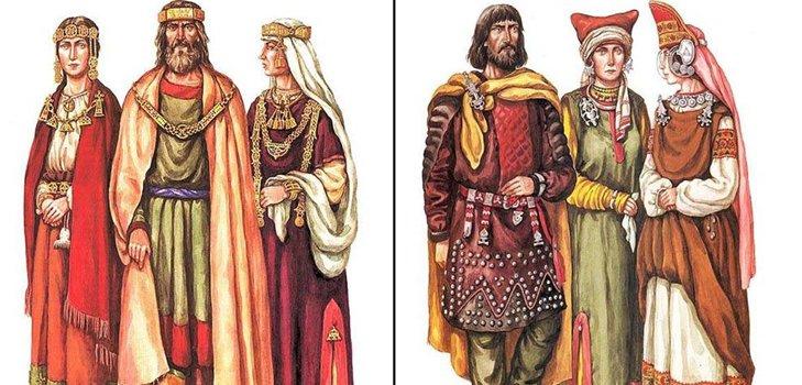 Древняя Русь - одежда