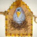 Пасхальные открытки: цыпленок в гнезде