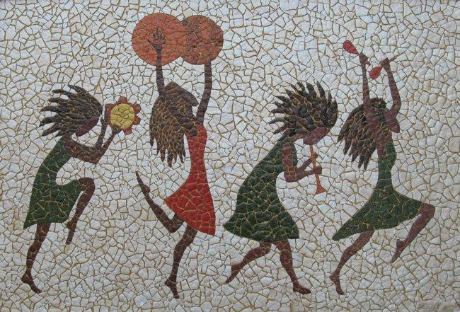 Мозаика из яичной скорлупы
