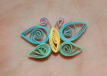 Квиллинг бабочка, мастер-класс, пошаговая инструкция с фото