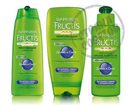 Garnier Fructis Длина и Сила шампунь, кондиционер, крем