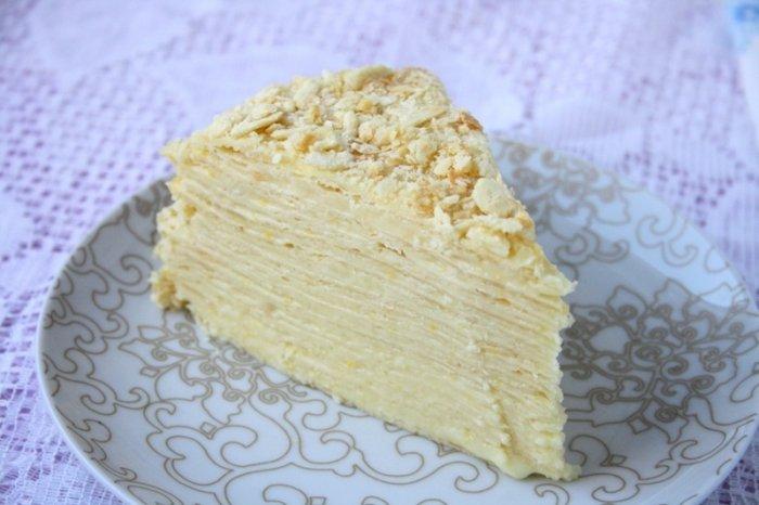 Рецепт торта наполеон в домашних условиях пошагово с заварным 4