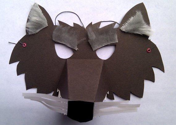 Как сделать маски волка из бумаги своими руками