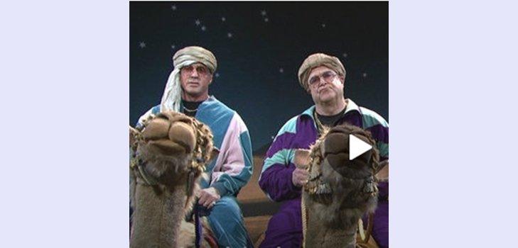 Гудман, Сталлоне и Де Ниро катаются на верблюдах