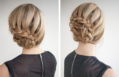 Как сделать вечернюю прическу на волосы средней длины — фото мастер-класс