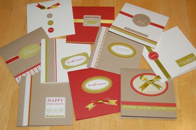 Новогодние поделки из бумаги. Открытки