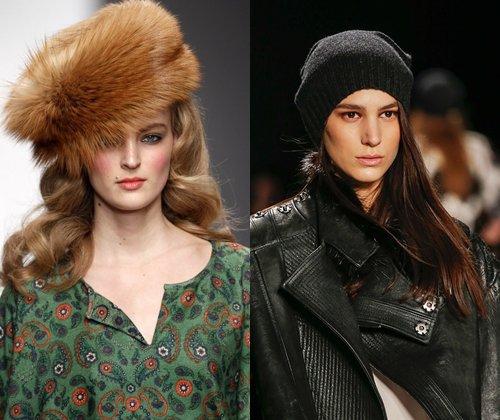 Модные головные уборы зима 2014: фото самых модных женских и мужских шапок