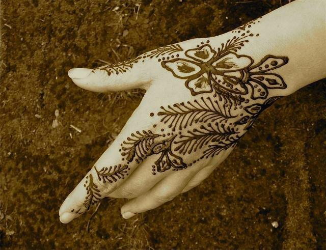 Временные татуировки хной