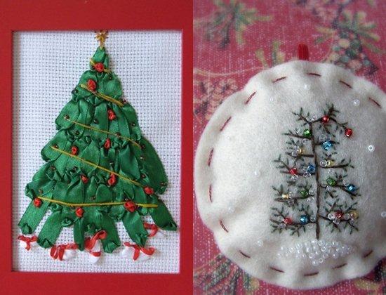 Новогодняя вышивка для начинающих: схемы и фото мастер-класс