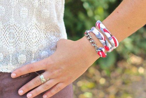 Как сделать браслет из ткани своими руками: фото мастер-класс