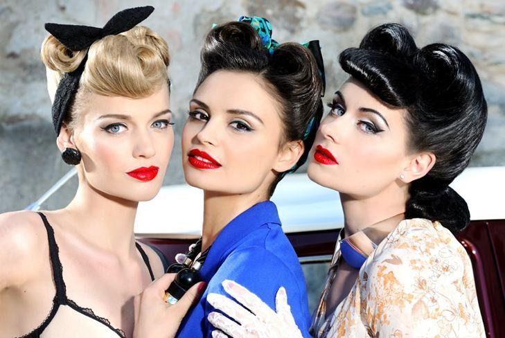Образ стиляги для девушки макияж