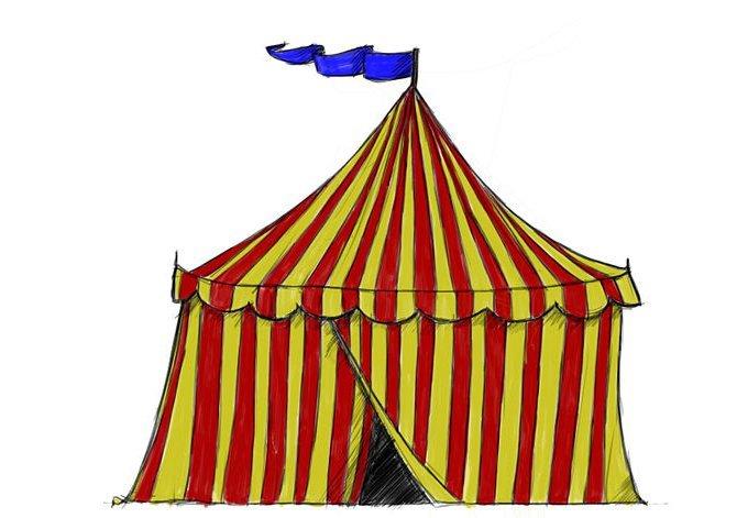 Как нарисовать цирк самый красивый