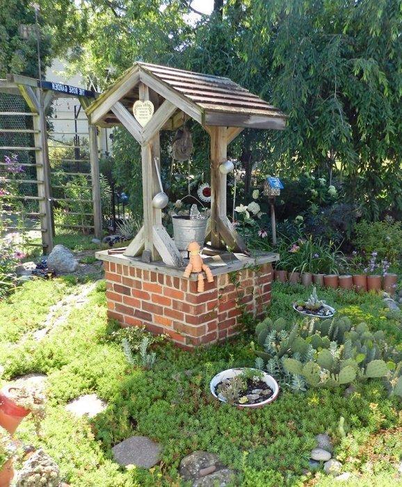 Сделать декоративный домик для сада своими руками фото 728