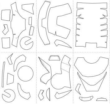 Как сделать из бумаги маску железного человека схема