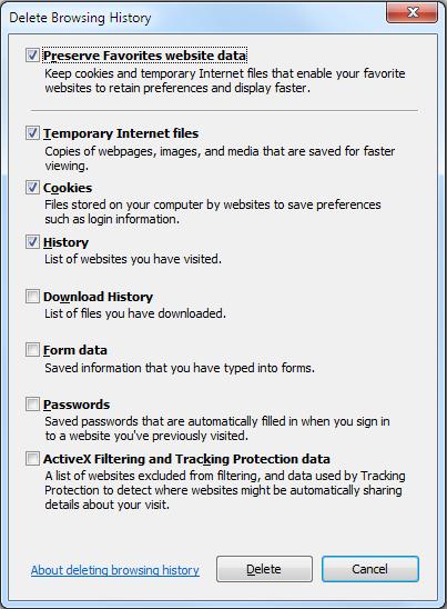 Как удалить историю в Internet Explorer: инструкция