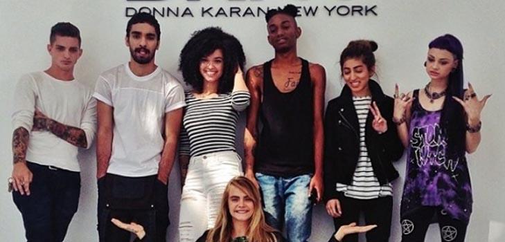 Кара Делевинь определилась с моделями для рекламы своей линии одежды