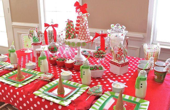Новогодний детский праздничный стол