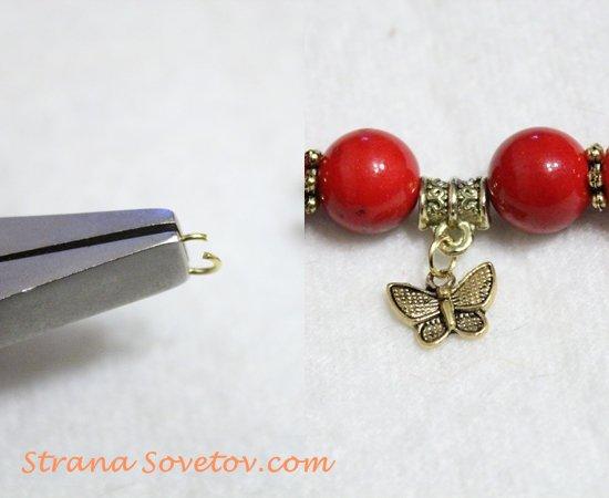 Мастер-класс: комплект из коралловых бусин браслет и серьги