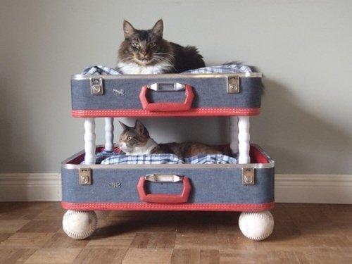 Лежанки для кошек своими руками из коробки