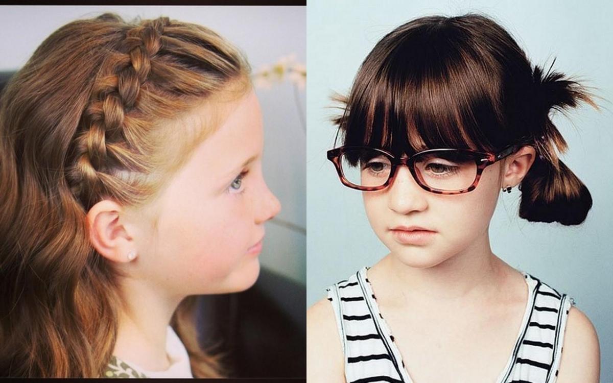 Модные прически на короткие волосы для школы