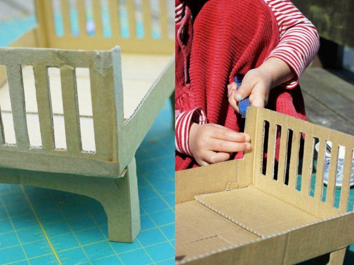 Кроватки для кукол из картона своими руками фото