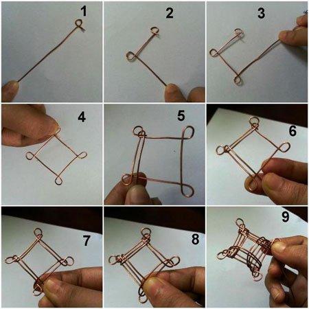 5 простых подвесок из проволоки и бусин своими руками