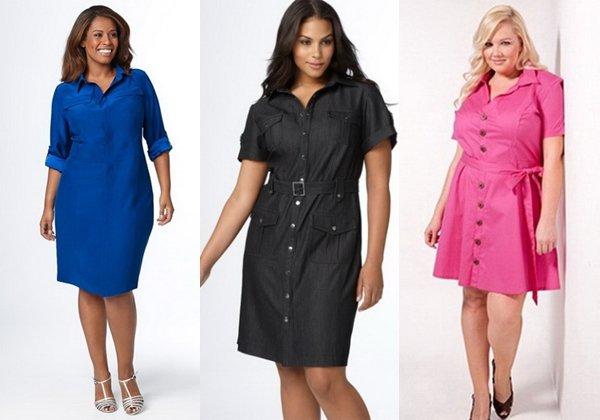 Летние платья  2014 для полных