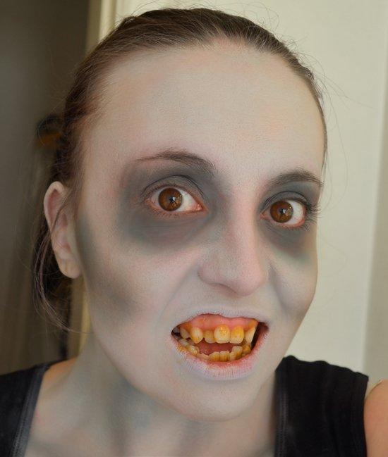 Как сделать мэйк ап зомби