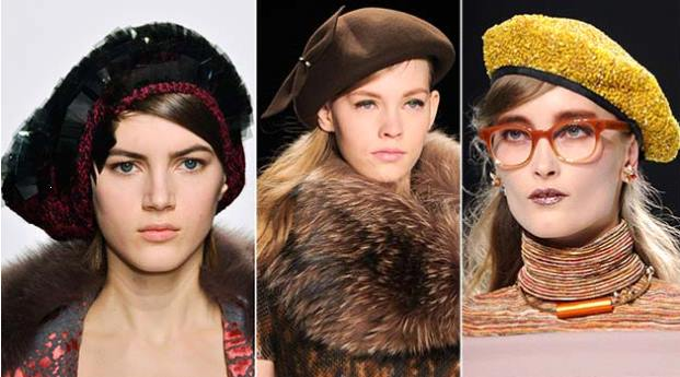 Модные головные уборы, Зима 2014 – 2015 с фото