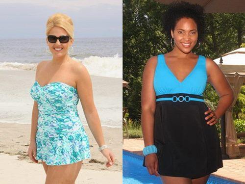 Красота XL:  модные купальники для полных девушек 2014