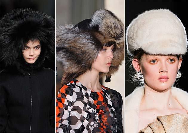 Модные меховые шапки, Зима 2015: фото самых модных женских меховых шапок, Осень-Зима 2014-2015