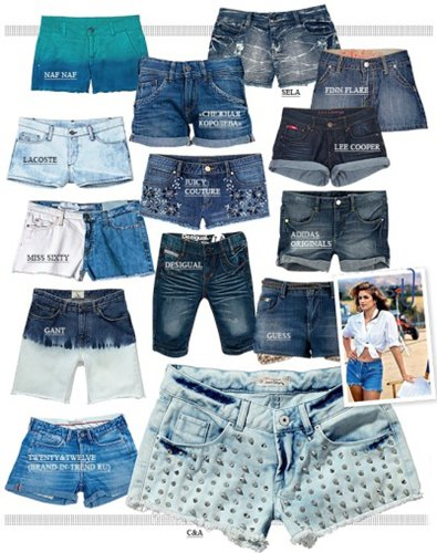 Модные джинсовые шорты 2014