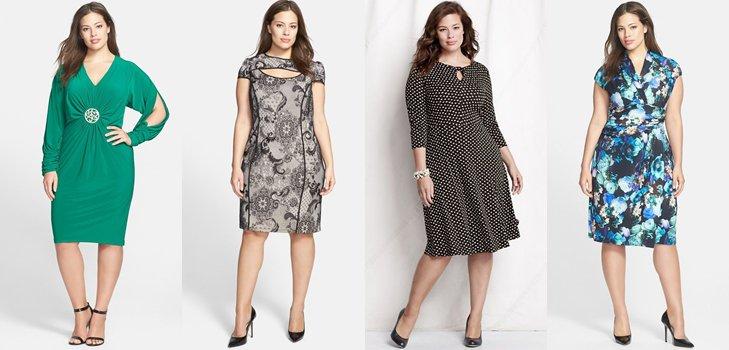 Модные платья для полных дам