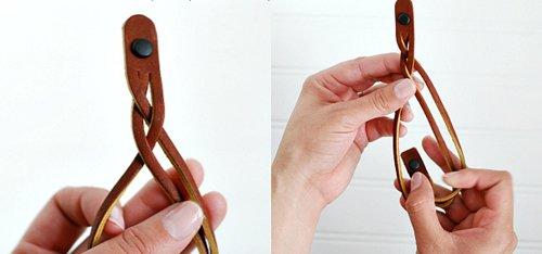 Как сплести браслет из кожи своими руками: фото мастер класс для начинающих