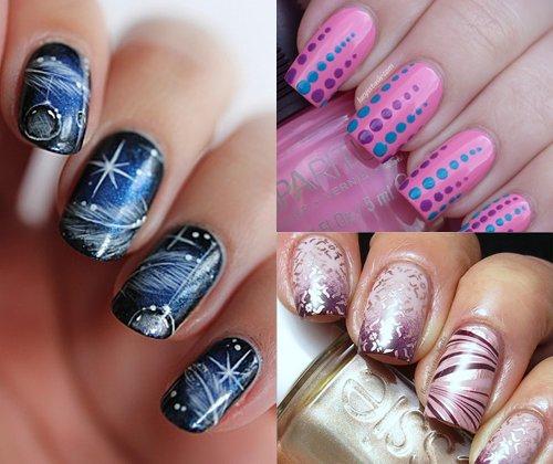 Модный дизайн ногтей зима 2014: фото самого креативного маникюра 2014 года