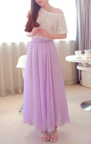 Длинная юбка на резинке