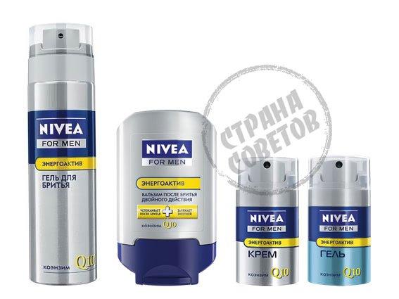 Nivea For Men Энергоактив Q10 гель, крем, бальзам, уход