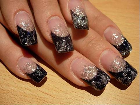 Ногти с блестками – гламур на каждый день