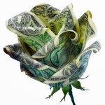 Оригами из денег: Роза