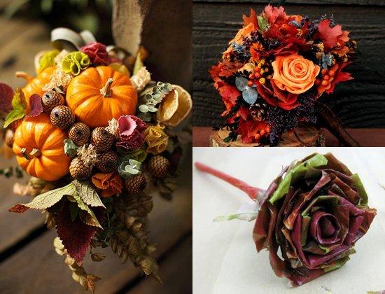 Осенний букет: поделки из природного материала