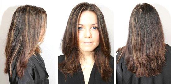 Окрашивание волос в два цвета: фото до и после