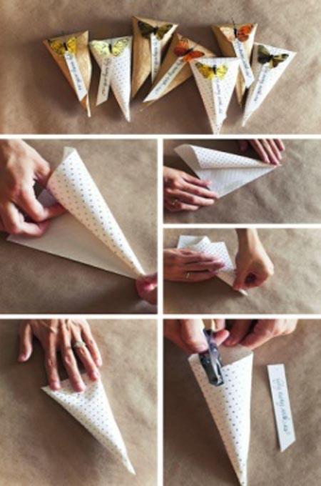 Как сделать конус из коробки