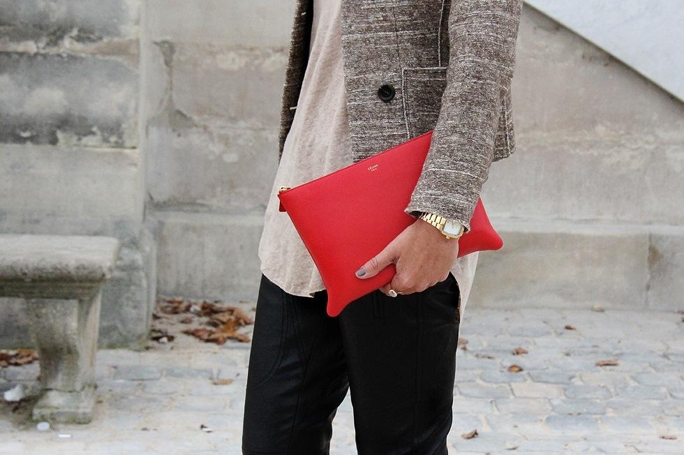 Красный клатч своими руками