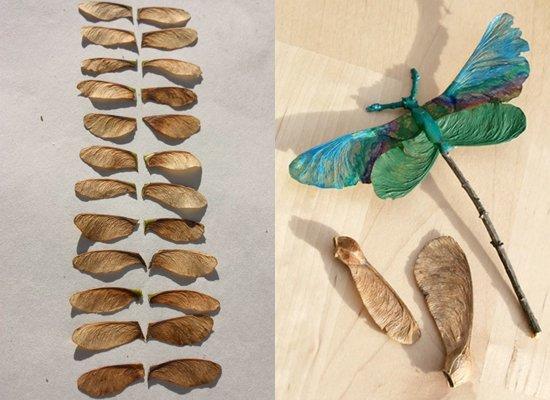 Осенние поделки из природного материала: фото
